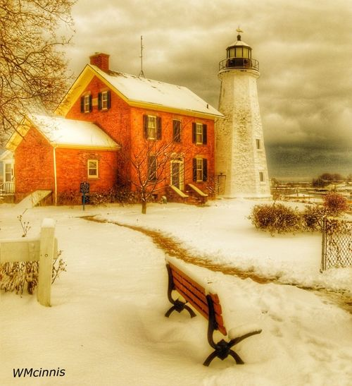 Follow the light Hdr_gallery Hdr Edit HDR New York Cold Winter ❄⛄ Cold Winter Rochester, NY Art Lighthouse Architecture Built Structure Winter Building Exterior Cold Temperature Snow House Weather No People Day Shades Of Winter