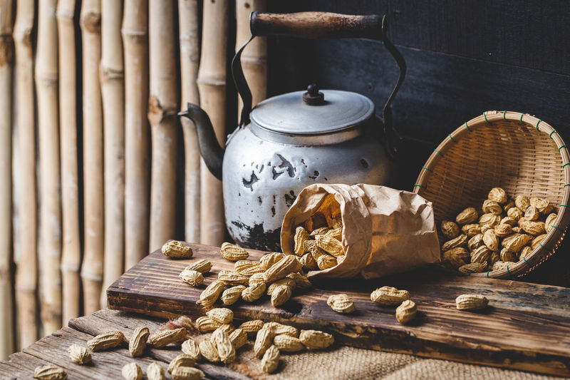 Boiled Peanuts Agriculture ASIA Bamboo Basket Bean Boiled Peanuts Burlap Diet Farm Food Healthy Food Nature Nutrition Old Wood Peanuts Protein Raw Root Rust Seed Sweet Tasty Tropical Vegetable Vietnam