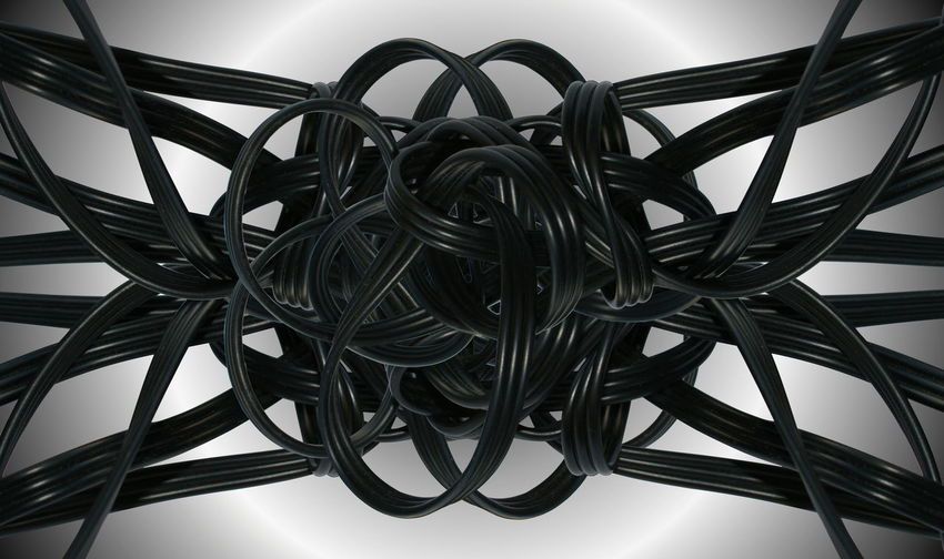 Complicated Power Twisted Black Color Cable Cables Chaos Chaotic Close Up Close-up Complexity Computer Cable Confusing Connection Electrical Equipment Electricity  Intertwined Jumbled Jumbled Cables No People Pattern System Tangled Technology