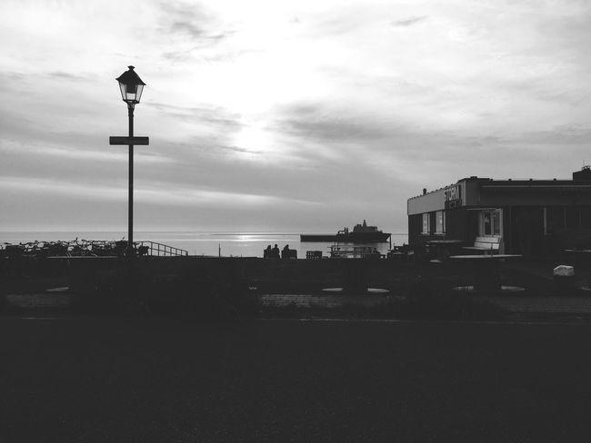 Street Light Sky Blackandwhite