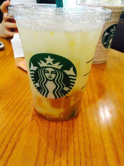 Starbucks New!! Yogurt Juice Starbucks Fizzio With Mango Jelly Yogurt Fizzio Mango Jelly Followme