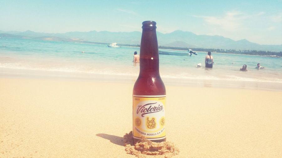 Beer Relaxing Enjoying Life Beach