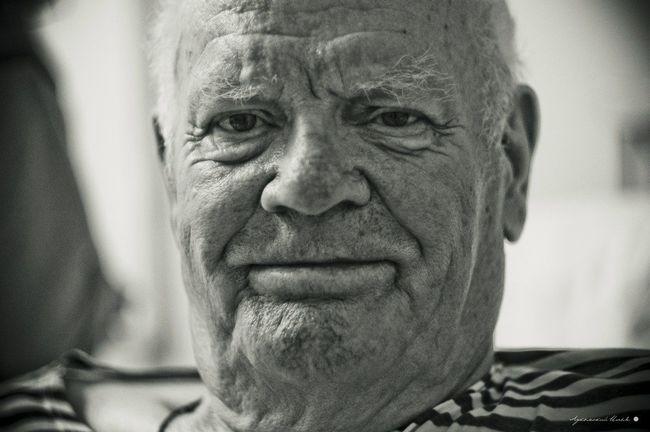 Grandpa Grandad Smile Blackandwhite