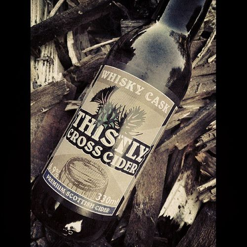 We chilked after our adventure too :) Mycamerastories Thistlycrosscider Scottishcider Whiskey yum wood cask bottle cider chilling yesterday