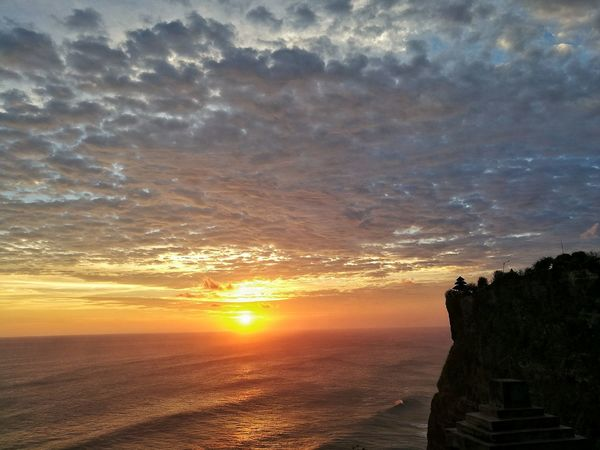 Goexplore Sunset Lastlight INDONESIA Bali Uluwatu Seaside Keepexploring Travellife Summerparadise Scenics Beauty In Nature Cloud - Sky Dramatic Sky Sun Nature