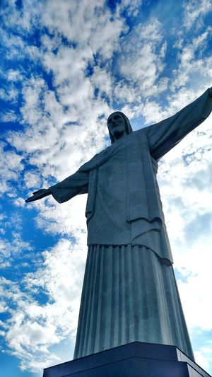 Riodejaneiro Cristo Cristoredentor Brasil Sky Clouds Blue Openarms Hug