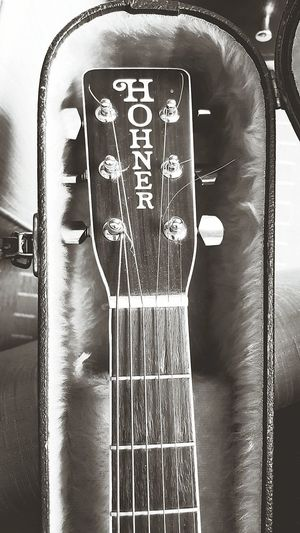 New Addition To The Family Hohner  Acoustic Guitar Guitar Addiction Houseofguitars Taking Photos Blackandwhitebl Enjoying Life Coco'sPics Vintage Sweet Sounds Of Music Guitar Love