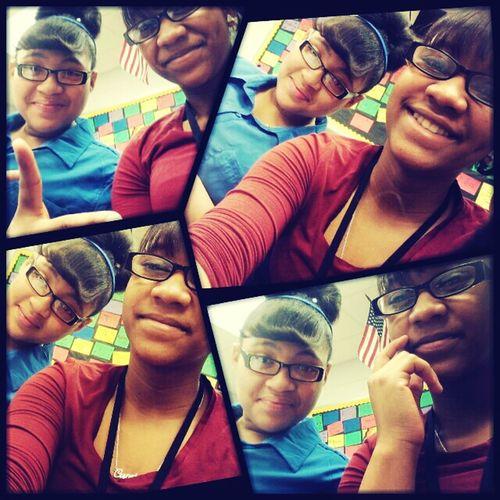Me & Kathia Earlier In Class .