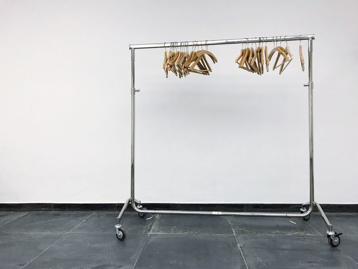 Coat Hangers Hanging Coathanger Wall Metal No People Built Structure Indoors