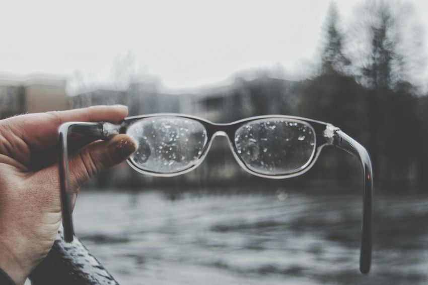 Human Body Part Human Hand Sunglasses One Person Outdoors Eyeglasses  People Day Water Adults Only Adult One Man Only Only Men Close-up Cold Temperature Winter Sky Tree Break The Mold BYOPaper! Glasses Rainy Days Rainy Season Rainy Days☔ Rainyweather Sommergefühle The Week On EyeEm