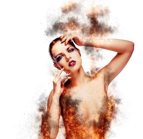 Beautiful young woman in a fire. Digitally generated image Abstract Altered Art ArtWork Beautiful Woman Blaze Caucasian Creative Digital Art Digitally Generated Effect Female Fiery Fire Flame Girl Graphic Heat Looking At Camera Model People Radiant Sexygirl White Background Woman