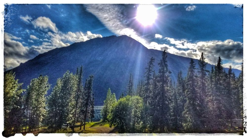 Britishcolumbia Iskut Beauty In Nature Nature Outdoors No People Cloud - Sky Tree Sunlight Mountain Canada