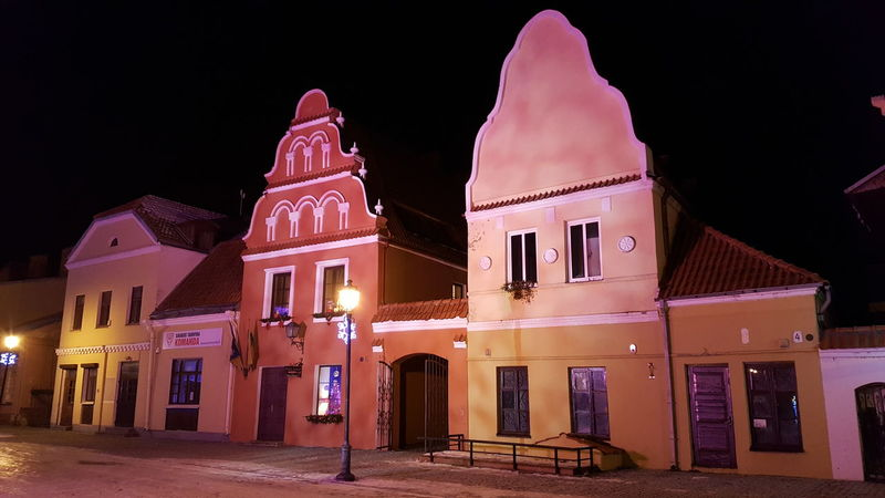 Night Architecture Travel Destinations Kedainiai Old Town