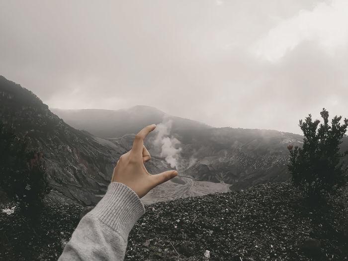 Volcano mountain activity