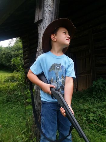 Gun Control Safety Safety First! Good Times Country Life EyeEm Selects Hat Childhood Outdoors Architecture Boys Elementary Age