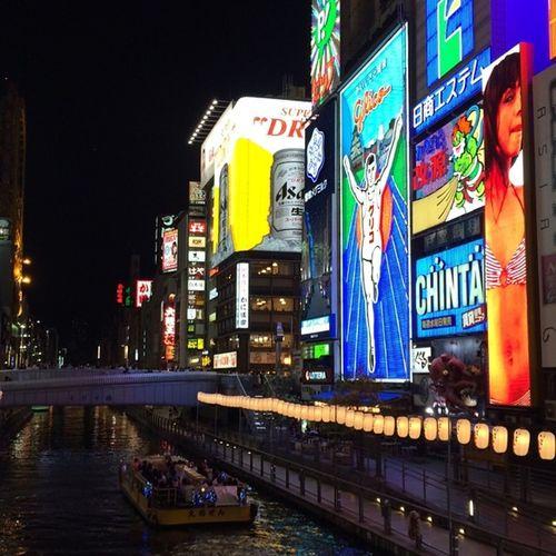 道頓堀 大阪 グリコ 難波 想い出 なんば ミナミ 観光地 えびす橋