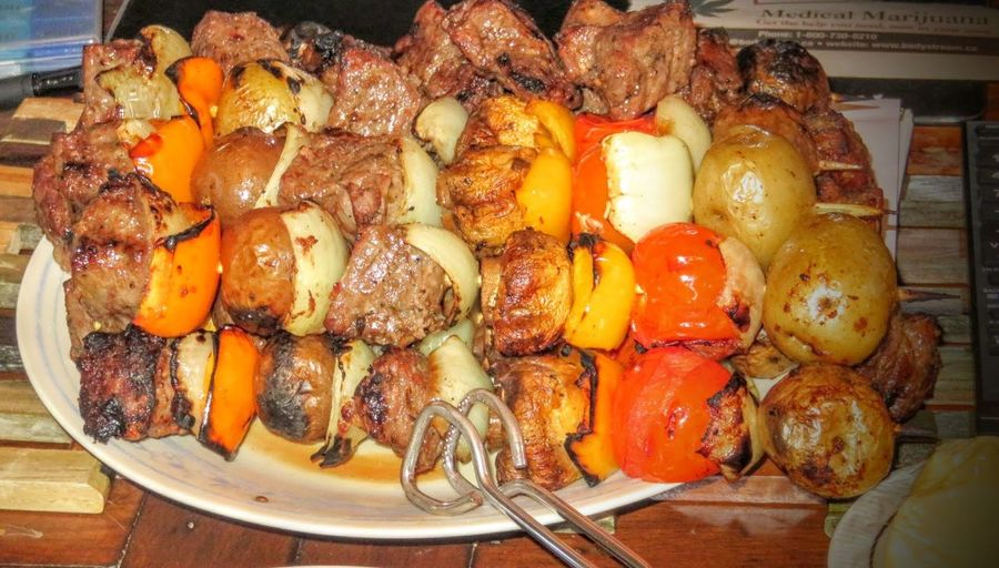 Shish kebabs 168987delicious DELICIOUS....mmmmm  Barbecue Season Shish Kabobs
