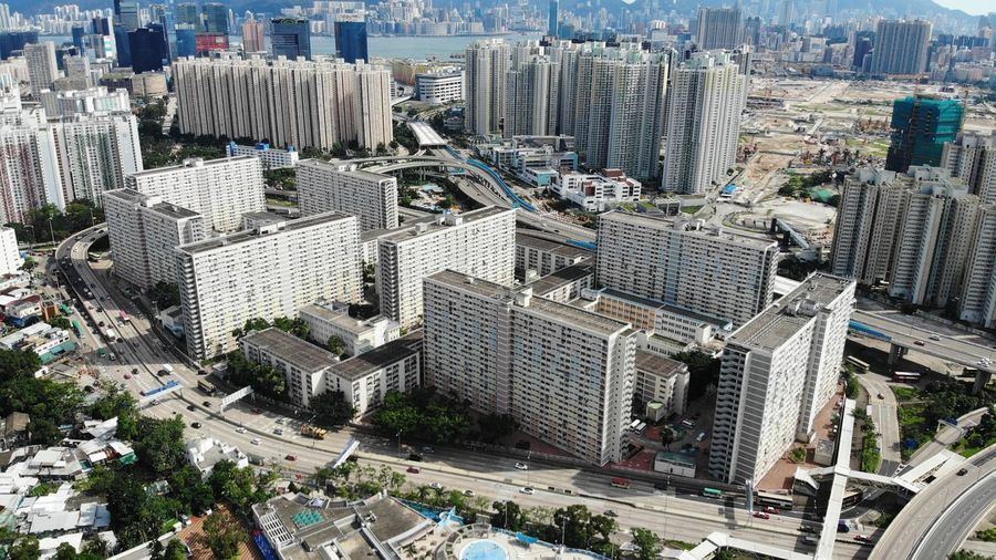 rainbow choi hung public building Public Exterior Housing Development Housing Settlement Choi Hung House Estate Public Housing Estate Hong Kong Modern Skyscraper Office Building Exterior Day Building Cityscape High Angle View Built Structure Architecture Building Exterior City Landscape Aerial View Travel Destinations City Life Home Drone  Dronephotography