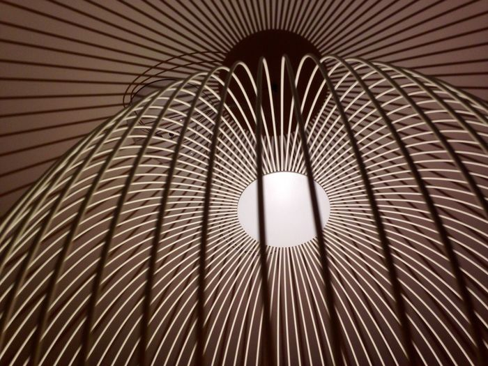 Low angle view of ceiling light