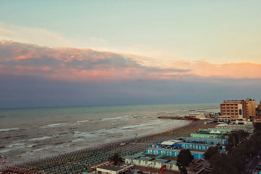 Hanging Out Taking Photos Check This Out Hello World Relaxing Hi! Enjoying Life Waves Evening Sky High Angle View Reflections Summertime Sunset_collection Red Sky Italy Colour Of Life Beachphotography Sunny Evening Shades