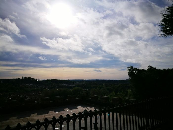 Sky Cloud - Sky Water Cloud Tranquil Scene River Railing Tranquility Scenics Cloudy Day Outdoors Sun Nature Horizon Over Land Beauty In Nature No People Dramatic Sky Riverbank Tourism Metal Gate Bridgnorth England In Autumn Clouds And Sky