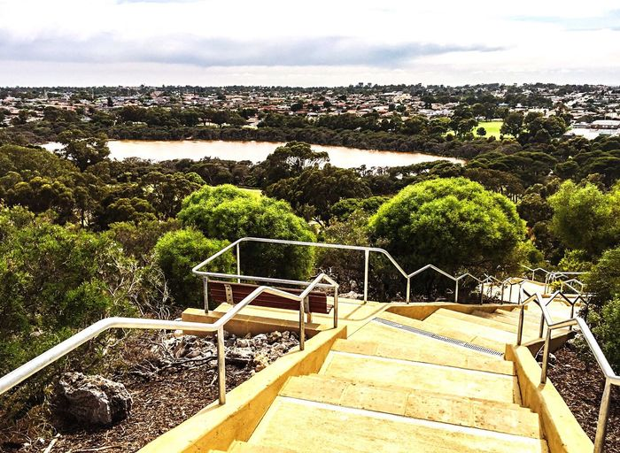 Lake Overlook: Fitness Stair Reward Lake View Overlook Stairs Fitness Sky Trees Stairways Stairs In Nature Fitness Stairs Exercise Alternative Alternative Exercise Staircase Steps Fitness Steps Training Fitness Training Motivation RePicture Growth Healthy Health And Wellness Healthy Lifestyle Inner Strength Torture Pain