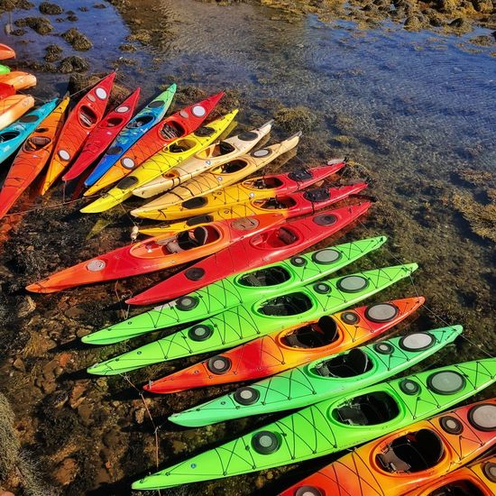 Sea faring Rainbow Rockport Ma Kayak High Angle View Backgrounds Creativity Day Outdoors
