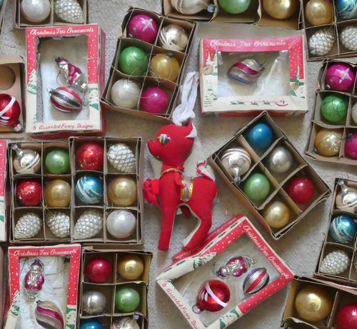 Christmas EyeEm Best Shots Holiday Holiday Season The Week On EyeEm Bauble Christmas Decoration Christmas Decorations Close-up Directly Above Festive Flatlay Indoors  Large Group Of Objects Multi Colored No People Ornaments Variation Vintage Vintage Christmas Decorations