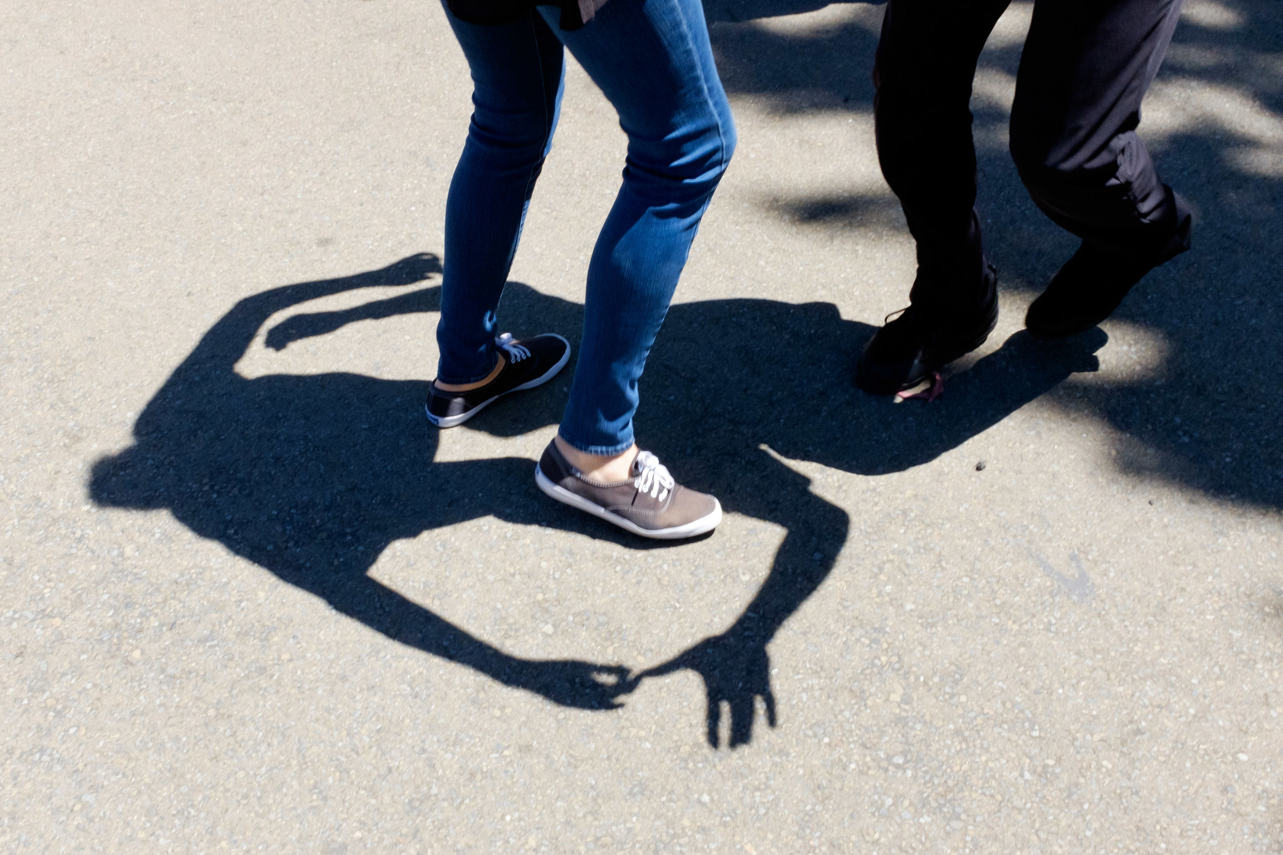 shadow, two people, low section, sunlight, high angle view, human leg, men, day, outdoors, real people, togetherness, lifestyles, human body part, only men, adults only, people, adult