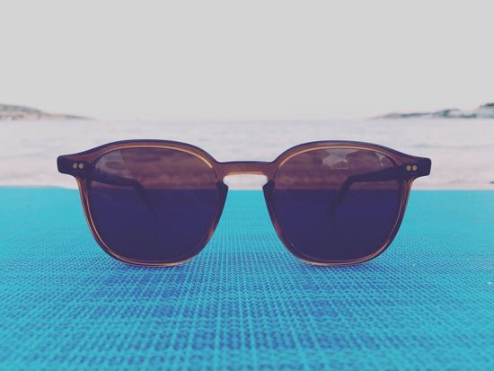 Sunglasses Beach Sand Sea Close-up Horizon Over Water Justgoshoot Iphonephotography IPhoneography Turquoise Waves