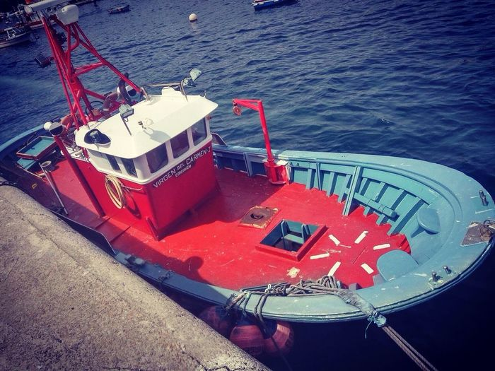 High Angle View Nautical Vessel Water Sea Day Outdoors No People