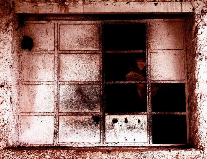 Window Architecture Built Structure Building Exterior Old No People Building Abandoned Damaged Day Outdoors Glass - Material Weathered Wall - Building Feature House Closed Metal Broken Obsolete Full Frame Deterioration Window Frame