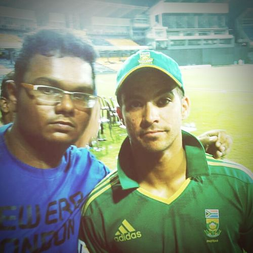 Throwback Pic with Jpduminy Cricketer South African OldMemories
