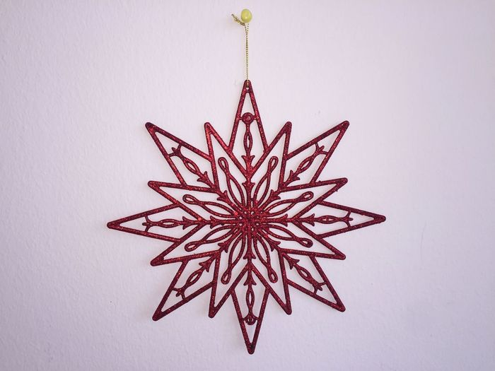 Big Star 3XSPUnity Star Red Star Art And Craft Red Christmas No People Pattern Hanging Studio Shot White Background Christmas Decoration