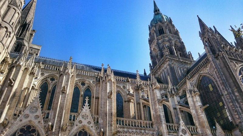 Cathedral Cathedrale Church Architecture Normandy Normandie France