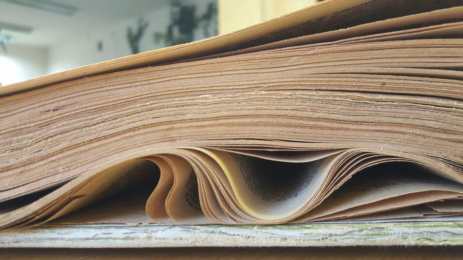 Close-up Curled Up Education Library Macro Media Old Book Old Newspaper Old Paper Page Pages Press Printing