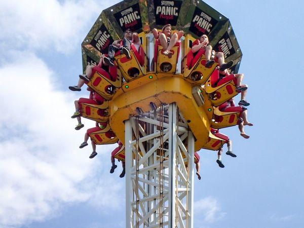 Silverwood Amusement Park Silverwood Amusement Park Ride, Panic Plunge Scary Colour Of Life Having Fun Legs