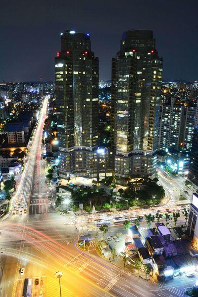 서울의 밤. Epuegraphic Seoul, Korea Night View