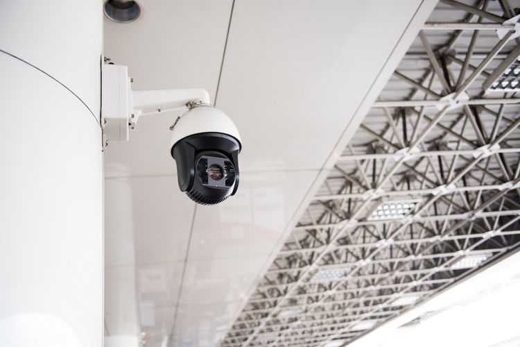 Built Structure Architecture Low Angle View Technology No People Transportation Security Camera Day Mode Of Transportation Modern Outdoors Building Exterior Travel Pattern Building Focus On Foreground Close-up Nature Connection Ceiling