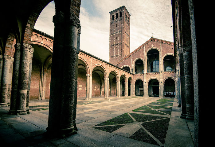 Saint Ambrogio Basilica Milan Italy Basilica Milan Sant'Ambrogio Architectural Column Architecture Building Exterior Built Structure History No People Travel Destinations Milano Italy Architecturelovers Milan Italy Architecture_collection Milan,Italy Archilovers Architectural Detail