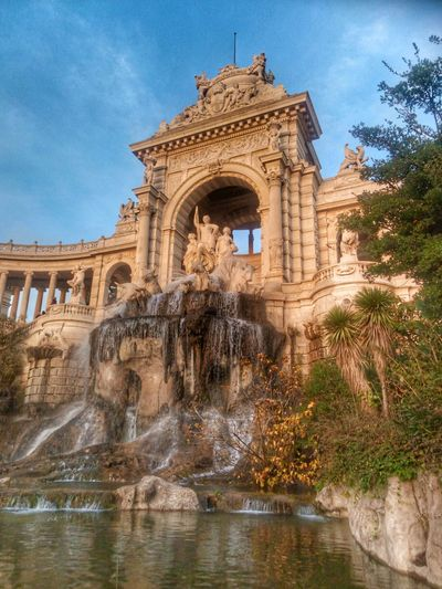 Architecture Arch History Travel Destinations Cloud - Sky Built Structure Sculpture Day Sky Outdoors Autumn🍁🍁🍁 Garden Photography Autumncolors Statue Architectural Column City Marseille, France Marseille EyeEm Best Shots Fontaine Autumn In The City Fountain_collection Fountains Monuments EyeEmBestPics