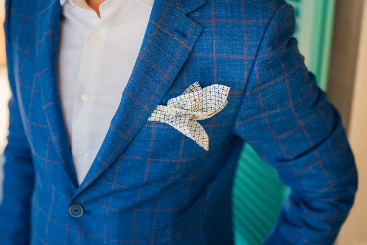 Close-up of man wearing suit