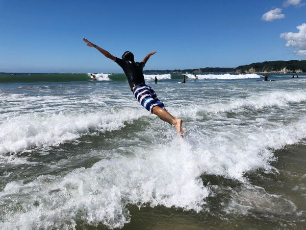 Sea Japan Photography Photo View Water Sea Motion Sky Leisure Activity Wave Real People Lifestyles Surfing Beach One Person Outdoors Enjoyment Nature
