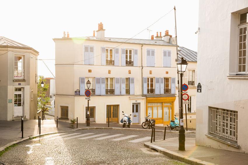 France Montmartre Paris Travel Architecture Building Exterior City Parisian Residential District Street Sunrise