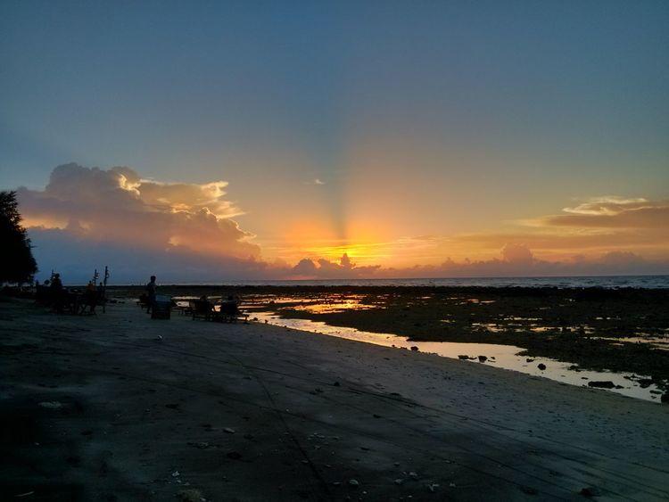 Sunset Sea Water Outdoors Sky Beach Nature No People Xiaomi Mi2