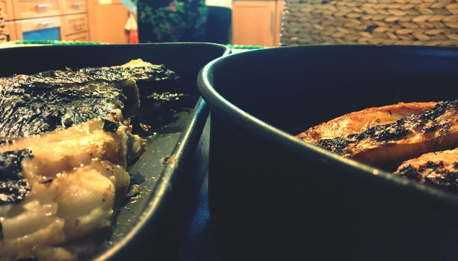 Fish & chips?! Naaah...fish&rice is better!😁 Grilledfish Boavida Latelunch Sistersbirthday
