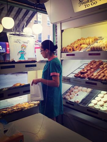 Portrait Of America People Food Donuts NYC Culture