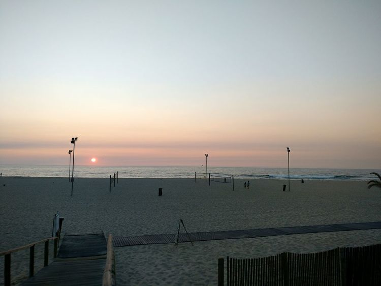 Portugal EyeEm Selects Water Sea Sunset Beach Bird Clear Sky Silhouette Summer Horizon Sand