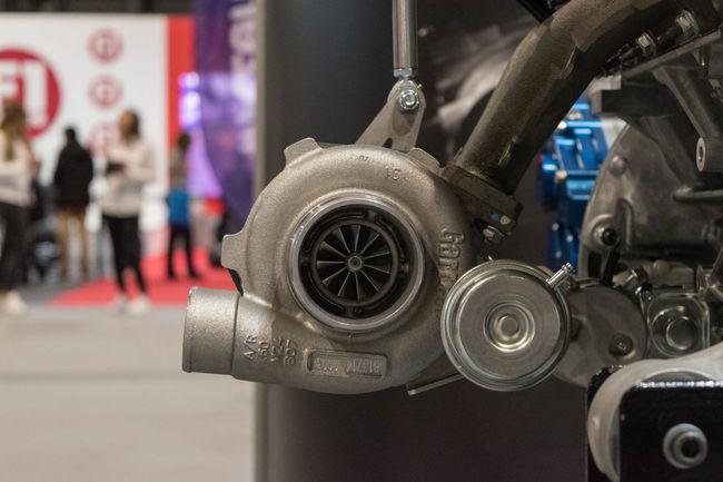 Car Close-up Engine Focus On Foreground Indoors  Technology Transportation Turbocharger