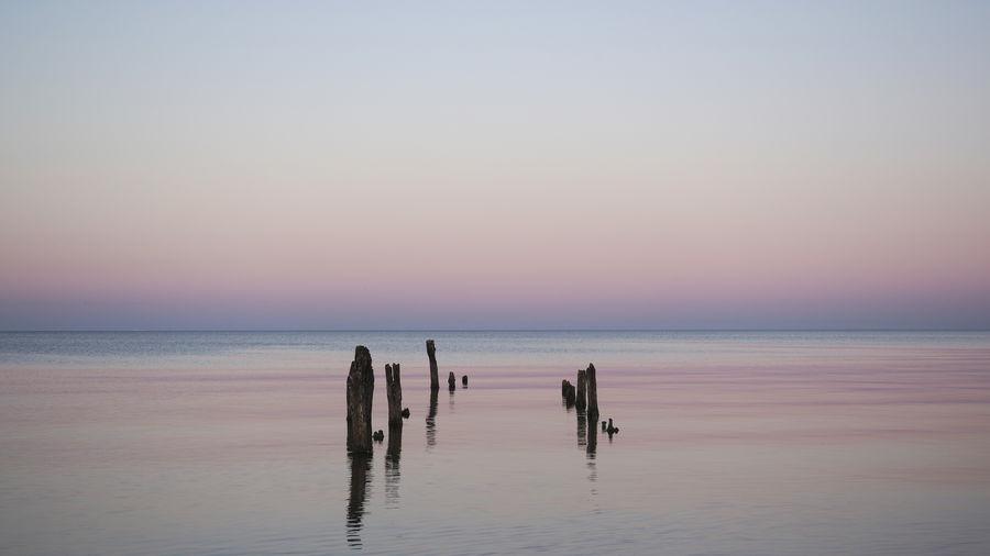 Minimal seascape in evening light